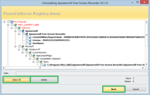 Delete Registry Files of any Software