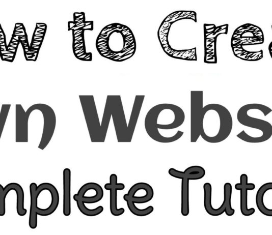 How to create own website