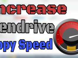 Increase pendrive copy speed