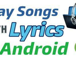 Play Songs with lyrics in Android