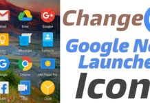 Change Google Now Launcher Icons