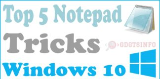 Top 5 notepad tricks