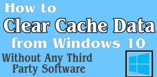Clear Cache Data in Windows