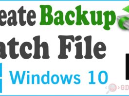 Create Backup Batch File