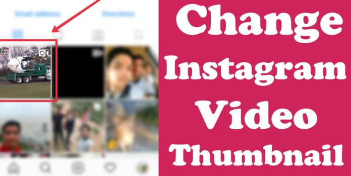 Change Instagram video thumbnail