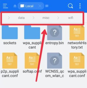 See saved WiFi Password in Android