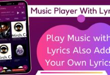 Music Player With Lyrics App