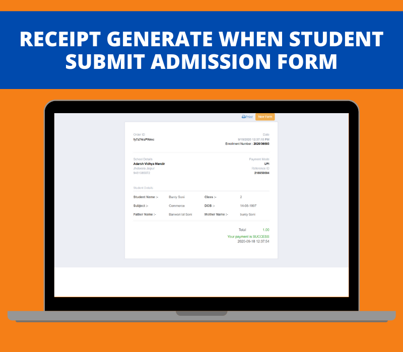 Advanced Online School Admission Portal - 2
